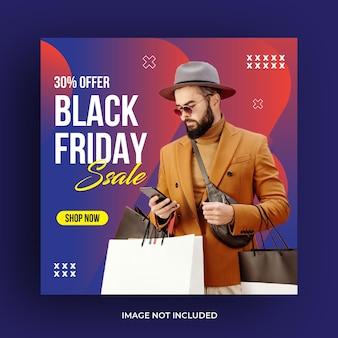Black friday social media-vorlage