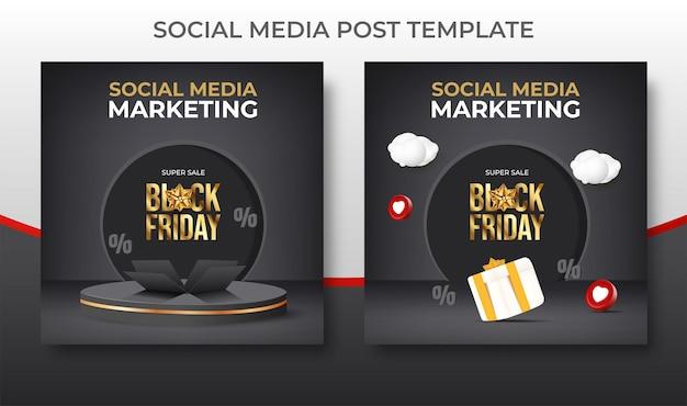 Black friday super sale banner promotion