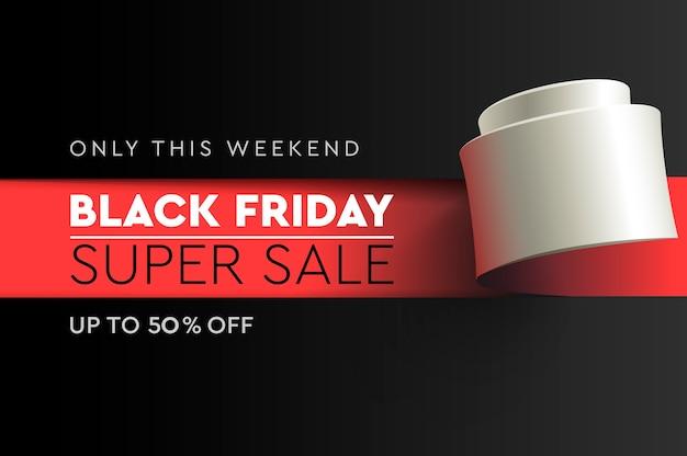 Black friday super sale. banner. rabatt bis zu 50% angebot.