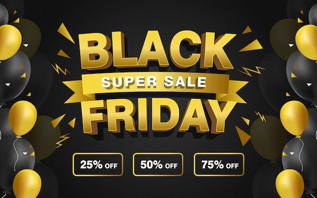 Black friday super sale promo banner