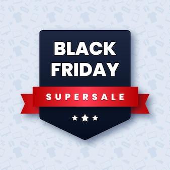 Black friday supersale-banner mit band