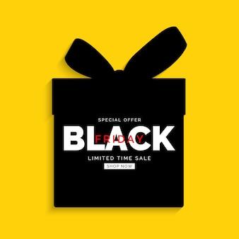 Black friday-verkauf-banner-vorlage. vektorillustration