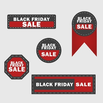 Black friday-verkauf-design-elemente.