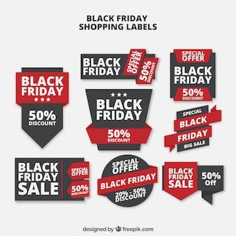 Black Friday Verkauf Etiketten Sammlung