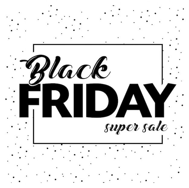 Black friday verkauf inschrift design-vorlage. vektor-illustration. verkauf, angebote und cd