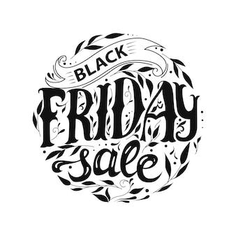 Black friday-verkauf. schriftzug, logo.