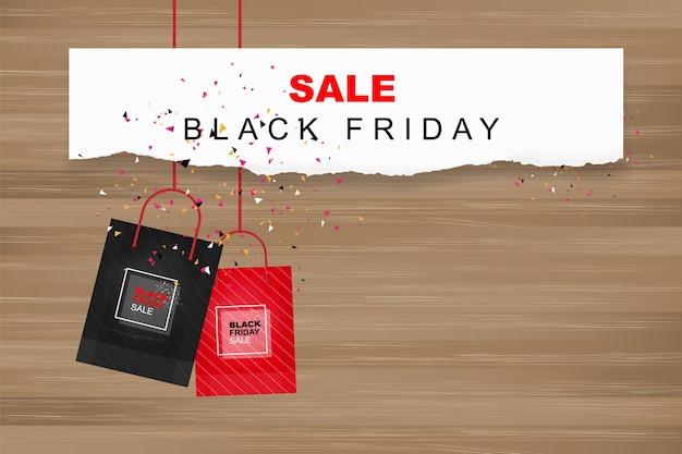 Black friday verkauf. vorlage für einkaufswerbung