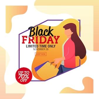 Black friday-verkaufs-fahnen-schablone