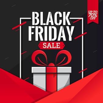 Black Friday-Verkaufs-Fahnen-Schablonen-Vektor