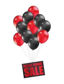Black friday-verkaufsballon