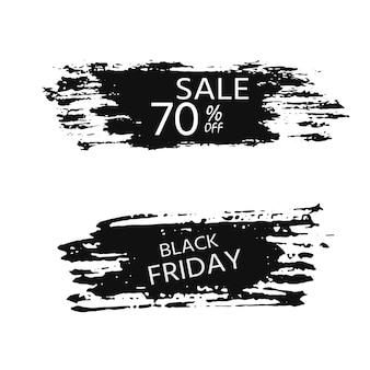 Black friday-verkaufsbanner für geschäfte und webseiten mit rabatt. elegante und moderne werbehintergrundschablone, marketingplakat, einkaufstaschendesign.