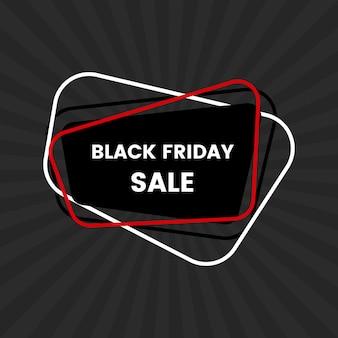 Black friday-verkaufsfahne auf schwarzem hintergrund. vektor-illustration.