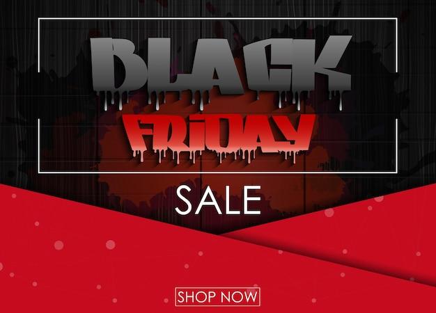 Black friday-verkaufsfahnendesign