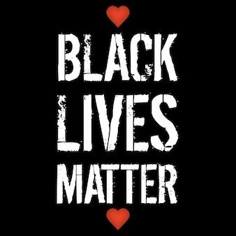 Black lives matter banner.