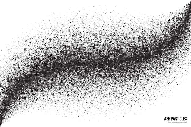 Black spray drops trail abstrakter grunge-hintergrund