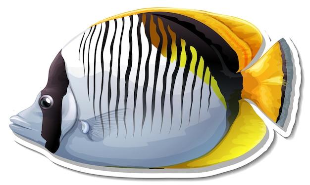 Blackbacked schmetterlingsfisch meerestieraufkleber