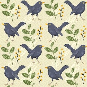 Blackbird saemless muster