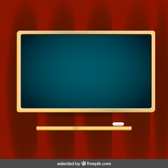Blackboard auf rotem hintergrund