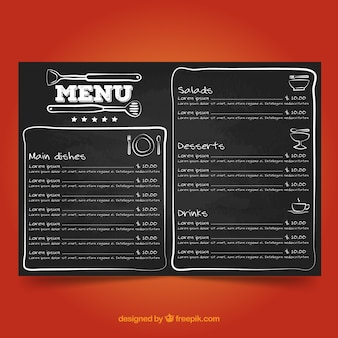 Blackboard-menüvorlage