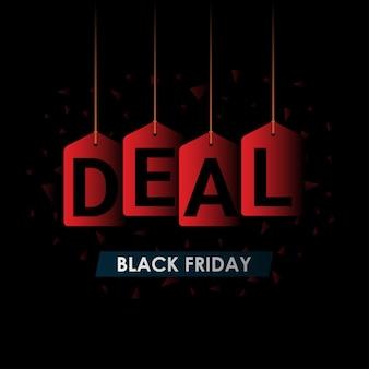 Blackfriday hängen deal label tag im schatten