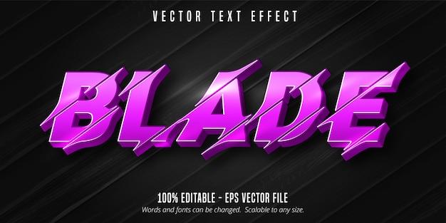 Blade-text, bearbeitbarer texteffekt im ausschnittstil Premium Vektoren