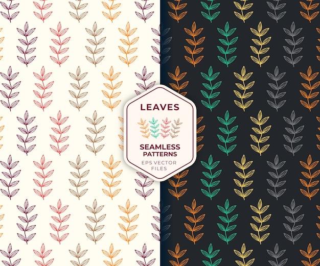Blätter bunte nahtlose muster