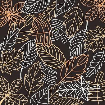 Blätter fallen auf die schwarze tafel