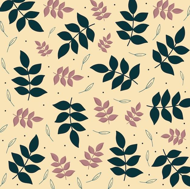 Blätter laub naturzweige botanische dekoration hintergrund illustration