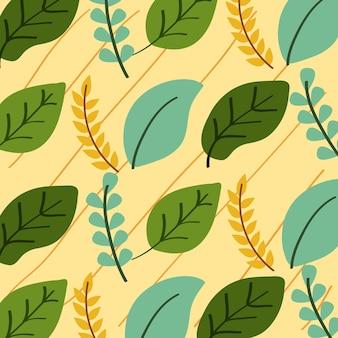 Blätter nahtloses muster