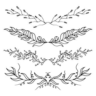 Blätter ornamente sammlung
