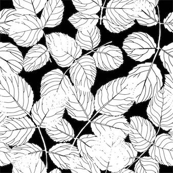 Blätter und laub an ästen, zweigen und pflanzen