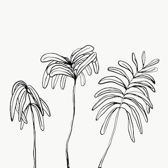 Blätter und tropisches blattwerk lokalisiert auf weißem hintergrund.