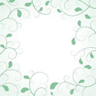 Blätterrahmen mit gekräuselten zweigen und blättern