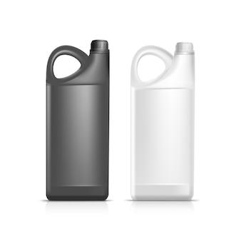Blank kunststoff jerrycan kanister gallone ölreiniger waschmittel abstergent isoliert