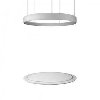Blank messestand. abbildung isoliert. grafikkonzept für ihr design