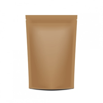 Blank paper pack pouch sachet bag verpackung mit reißverschluss.