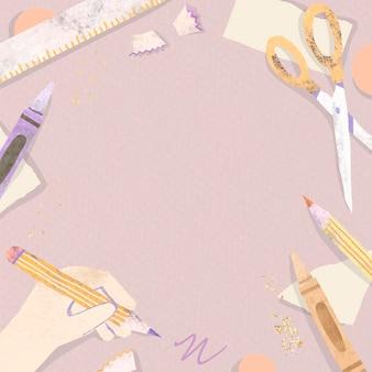 Blank pink zurück in die schule