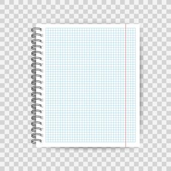 Blanko liniertes papier notizbuch ende heft. .