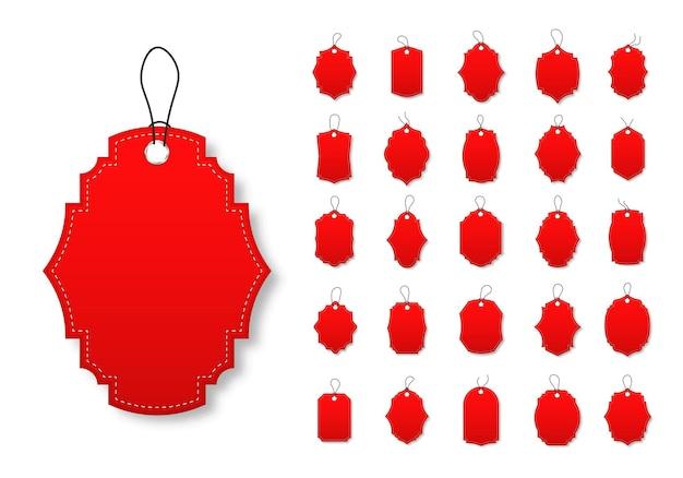 Blankopapier preisschilder oder geschenkanhänger in verschiedenen formen sonderangebot etiketten mit kordel