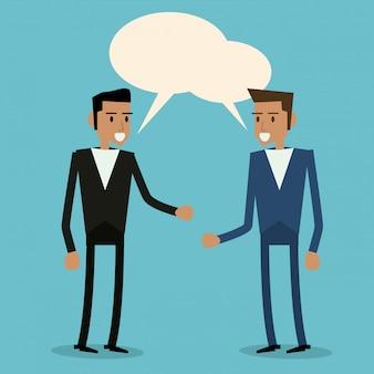 Blase mit männlicher person-symbol. kommunikation.