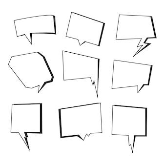 Blase-sammlung hand zeichnen