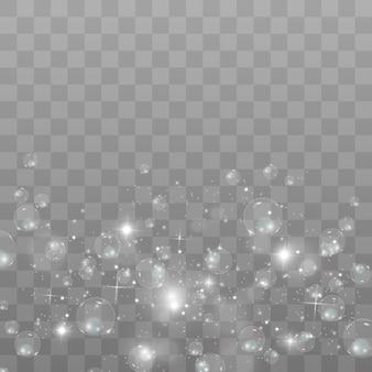 Blase. seifenblase auf einem transparenten hintergrund.