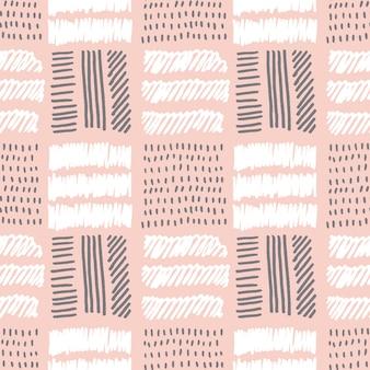 Blasses rosafarbenes nahtloses muster des farbvektors