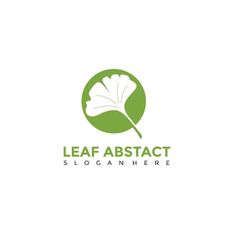 Blatt abstrakte logo vorlage