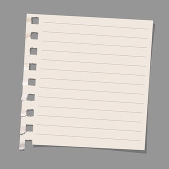 Blatt briefpapier