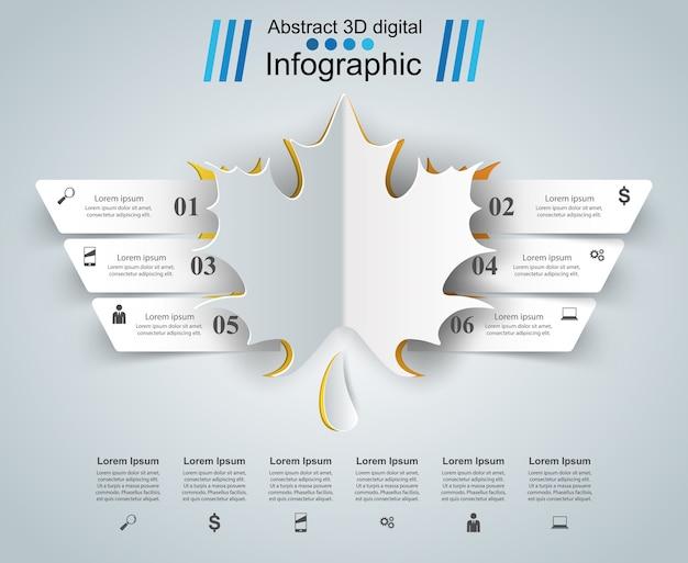 Blatt infographic auf dem grauen hintergrund