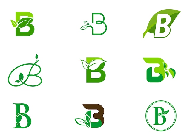 Blatt initialen b-logo-set