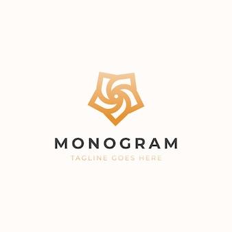 Blatt-monogramm-konzept-logo-vorlage