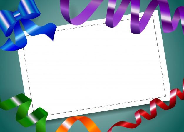 Blatt papier mit band. leeres zeichen