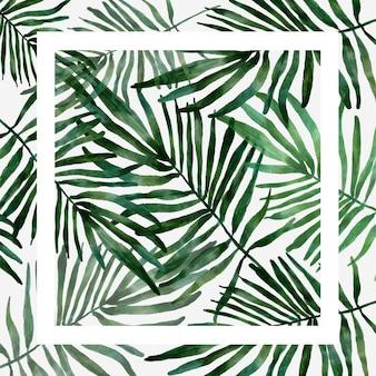 Blatt tropisches muster